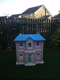 Little Tikes Mansion Dolls House, as seen in pics, will need a clean, collect Stonehaven