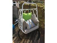 Outdoor swing cuddle egg chair