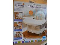 summer deluxe comfort folding booster seat - safari stripe