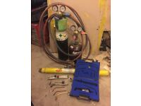Gas welding and cutting set