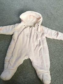 Newborn girls baby all in one coat