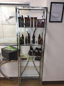 Houston Glass & Chrome Display Unit