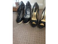 4 pairs of heels size 7