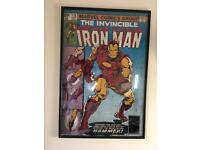 Iron Man Framed Comic Cover Print. 61x91.5cm. The Invincible Iron Man #126 by John Romita Jr.