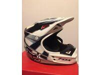 FOX V1 Motocross Quad Motorbike Helmet - Excellent condition