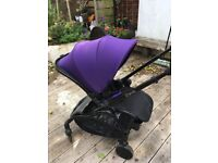(CAN BE DELIVERED!) Almost brand new iCandy Raspberry pram chasis, brand new seat and raincover