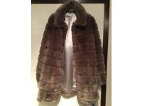 Miss Selfridge Faux Fur Coat-Purple- See Last Picture for Actual Colour PleasAs New Condition