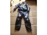 Yamaha blue/black motorcycle leathers