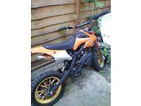 Midi Petrol Pit Bike 49cc--spares or repair