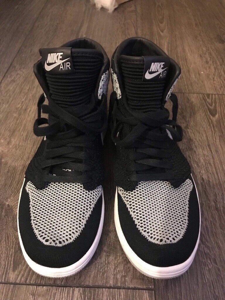 Jordan 1 Retro Flyknit  quot Shadow quot  - Men Shoes Trainers ... 069e6c795