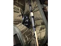 Nash scope 2.25 and Nash bp10 reel plus Nash rod bag