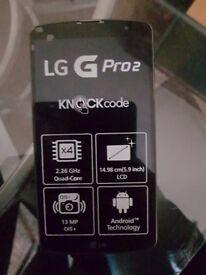 Lg g pro 2 black unlocked 32gb with everything