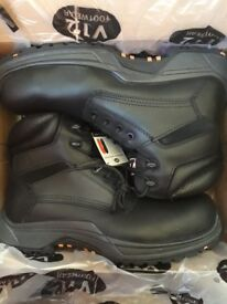 Brand New Mens Black V12 Work/Safety Boots/Shoes size 10