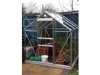 "6"" x 4"" greenhouse already dismantled ready 4 collection"