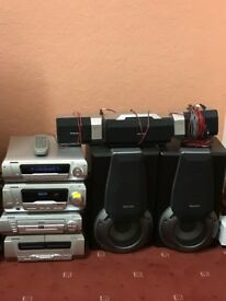Technics ,dvd, used, 5 speakers, remote controller, good working condition