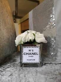 Diamanté flower vase