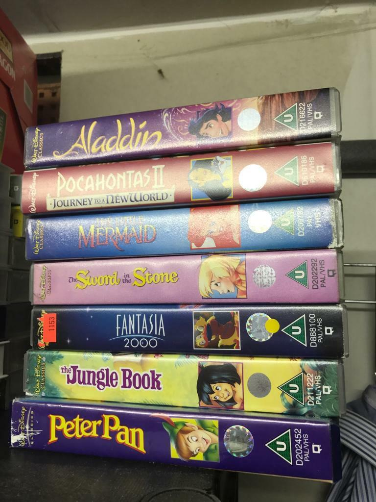 Disney VHS tape cassettes. Various titles x 38