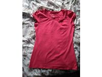 Ladies 'NEXT' pink T-shirt, bow, nearly new.
