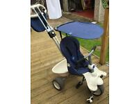 Smart trike 4 in 1 reclining very smart limited edition denim