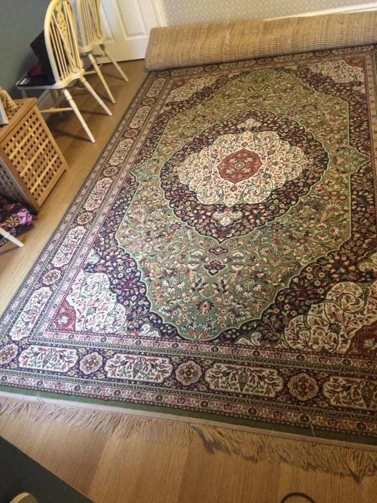 Large Green Rug Good Condition