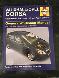Haynes Manual for Vauxhall Corsa