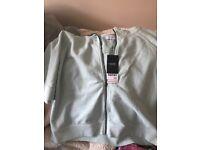 Mint green short sleeved hoodie Next BNWT size 8