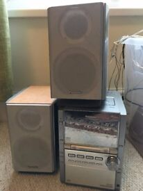 Panasonic Mini Stereo System CD, Tape, Radio, Aux - no bluetooth