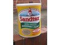 SANDTEX SMOOTH MASONRY PAINT 5 LITRES MID STONE