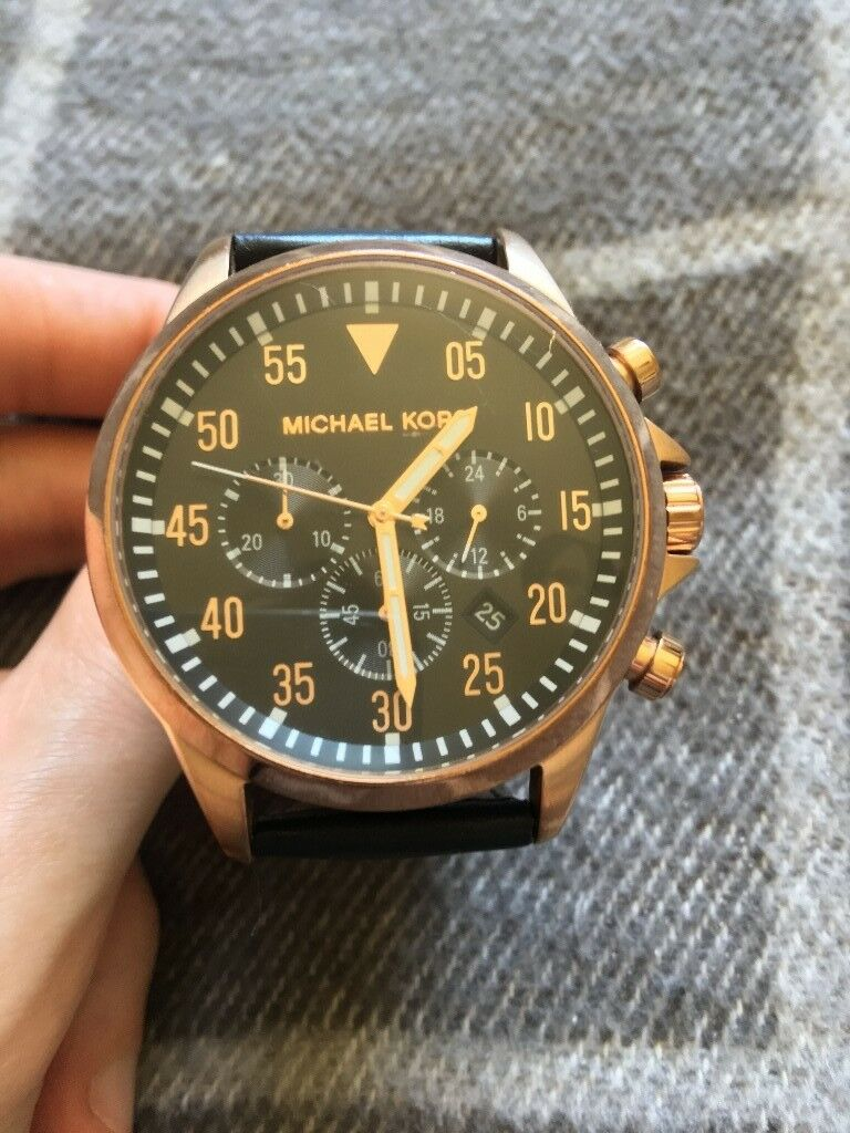 7aa279ab1d80 For sale  Mens Michael Kors Gage Chronograph Watch MK8535 - Rose Gold £80