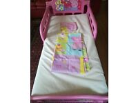 peppa pig bed frame + duvet cover and mattress
