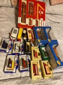Die cast models cars busses fire engines all unused some boxed
