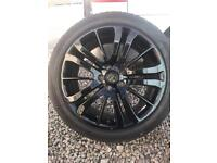"Set of four genuine Range Rover sport 20"" alloys tyres"