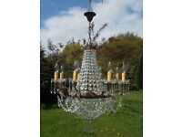an extremely rare unusual 11 lights vintage French empire chandelier (M60)