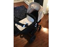 Bugaboo cameleon 3 with footmuff and car seat adaptors
