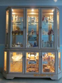 full height 2 piece display cabinet