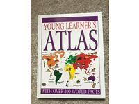 Young Learners Hardback World Atlas Book Like New
