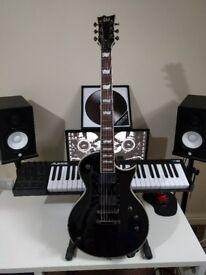 ESP LTD EC-401 Black + NEW hard case/ Great Condition!