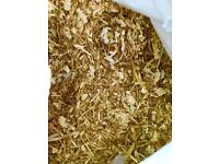 1KG Pet bedding Premium Quality Chopped Wheat Straw & Soft Wood Shavings