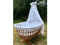 Leipold basket crib with canopy