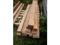 Large chunky timber / wood ideal for garden raised beds