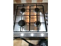 Gas hob in stainless steel