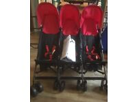 Triple buggy. As new, never used. With raincover