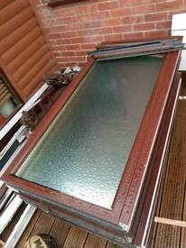 Upvc Window mahogany