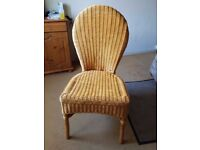 Natural Wicker Chair - QUICK SALE £6