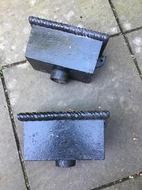 Reclaimed cast iron flower pots