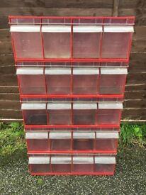Van Storage Boxes - Tilt Boxes - Good Condition - 4 Boxes Per Unit - Suitable For Any Van Size
