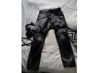 Dainese Men's Black Leather Trousers Size 50
