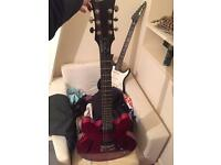 Cherry red epiphone dot with Grover tuners cheap quick sale look@@!! **can post**