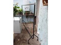 Sturdy metal clothes rail