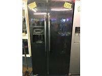 DAEWOO FROST FREE AMERICAN STYLE FRIDGE FREEZER IN BLACK WITH WATER AND ICE DESPENSER